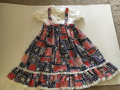 Vintage Little Girls Dress By Mini World Size 3