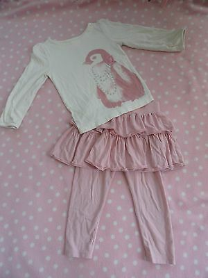 Girl Gap Outfit Set Top and Tutu Leggings Size 3T