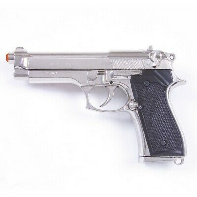 Denix M92 Berretta 9mm Military Model Replica Pistol - Nickel