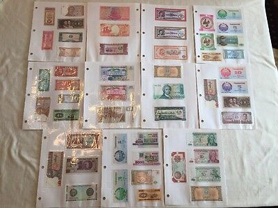Huge Lot 107 Mint Crisp Foreign World Paper Money Note Currency Collection