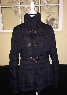Donatella Women's Ladies Sz M Navy Winter Warm Puffy Jacket
