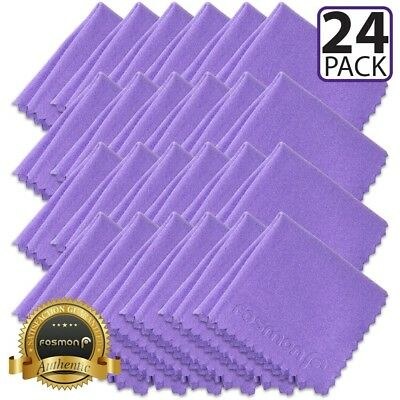(24 Pack) Fosmon Microfiber Cleaning Cloths for Camera DSLR Lens Eyeglass Screen