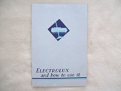 1935 Electrolux Owner's Use & Instruction Manual, Excellent Condition