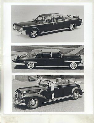 1939 1950 1961 1968 Lincoln Presidential Limo ORIGINAL Factory Photo ww8533