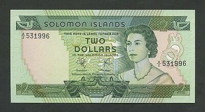 SOLOMON ISLANDS - $2  1977  QEII  P5  Uncirculated  ( Banknotes )