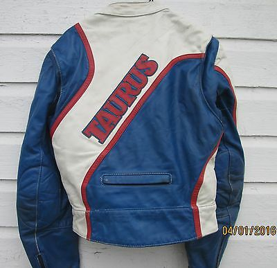 Rare Vintage Leather Suit Jacket Pants Boots Motorcycle Racing Taurus by DROSPO