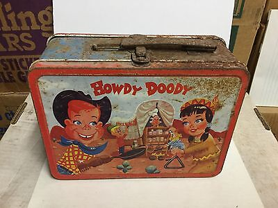 Howdy Doody tv show rare metal lunch box 1950s