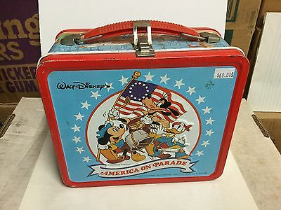 Walt Disney America on Parade rare metal lunch box 1970s