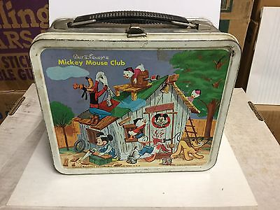 Walt Disney Rare Mickey Mouse Club with Thermos metal lunch box 1960s