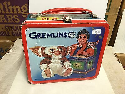 Gremlins movie rare metal lunch box 1980s