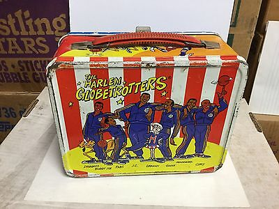 Harlem Globetrotters rare metal lunch box 1970s