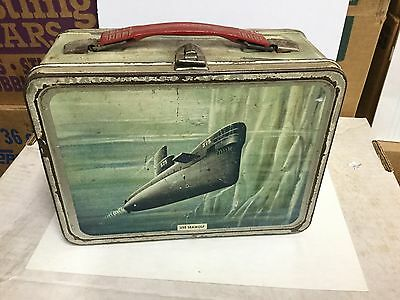 USS Seawolf rare metal lunch box 1960s