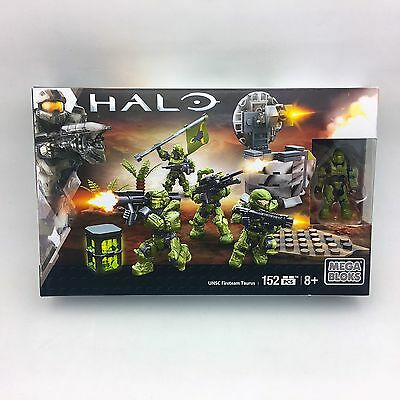 Halo UNSC Fireteam Taurus Mega Bloks Set Green Spartan Soldier Warrior Enforcer