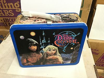 Dark Crystal movie rare metal lunch box with thermos and ad sheet 1980s