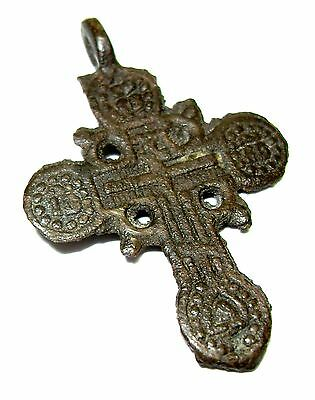 Ancient bronze Believer cross Middle Ages.