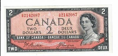 1954 Canada Bank Note Two Dollar $2 Devils Face Ch Au