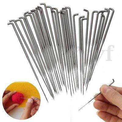 30PCS Needle Felting Kits Handle Holder Wool Felt Set Sewing Craft Tools Mat DIY