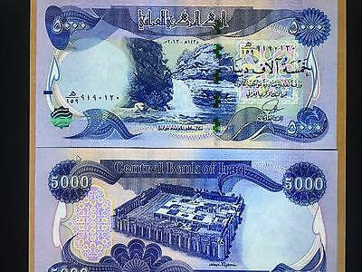 10,000 New Iraqi Dinars 2 X 5,000 Uncirculated Authentic, Free Shipping