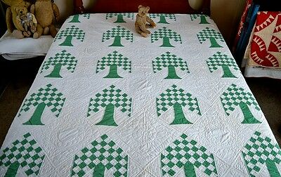 Antique Hand Stitched Tree of Life Quilt *