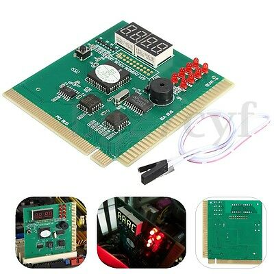4-Digit Card PC Analyzer Diagnostic Motherboard POST Tester for Computer PCI ISA