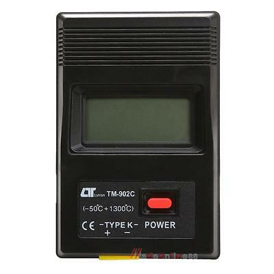 TM 902C Black K Type Digital LCD Temperature Detector Thermometer Meter