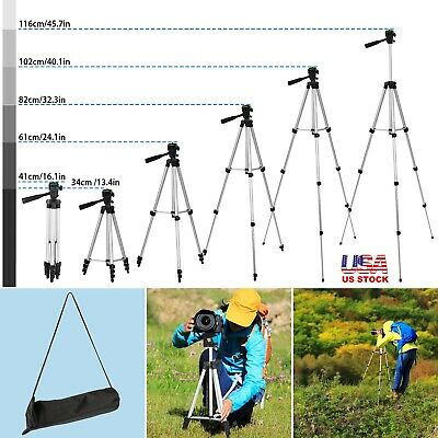 105cm Superior Control Camera Tripod, 3 Way Pan Head, Bubble Level