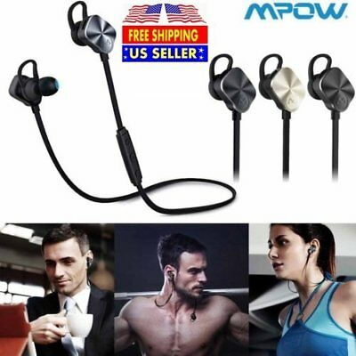 Mpow Wireless Bluetooth Headphone Sports Noise Cancelling APT-X Stereo Earbuds