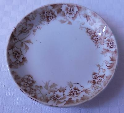 """J.H.W. & Sons """"Pansy"""" 3-1/8"""" Butter Pat Dish, Hanley, England"""