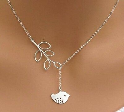 New Fashion Women Girl Cute Charm Necklace 925 Sterling Silver Bird Pendant