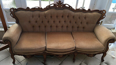 Victorian Lounge Set - Hand Carved Frames Imported from Italy