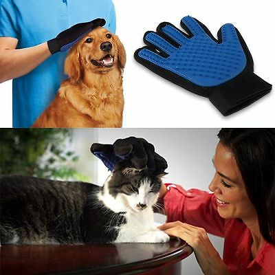 Soft Pet Deshedding Cleaning Brush Glove Dog Hair Massage Grooming Groomer