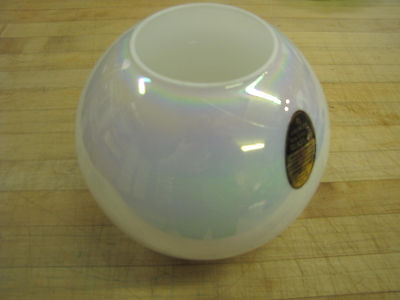 "Hand Blown Iridized ball 8"" Vase ~ EO Brody ~ Cleveland, Ohio ~ Stickered"