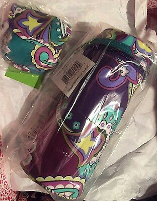 2pc Set Baby Bottle Caddy & Pacifier Pod HEATHER Vera Bradley NWT Beach Lunch