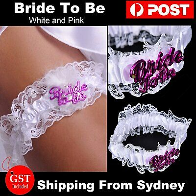 1x Bride To Be Garter Hens Night Party Wedding Bachelorette Hen Bridal White