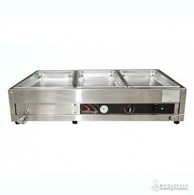Bain Marie 3 Bay Benchtop Woodson W.BMA23 1030x600x245mm Warmer NO PANS INCLUDED
