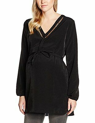 Nero (Black 001) (TG. 40) ESPRIT Maternity Tunic ls, Camicia Donna, Nero (Black