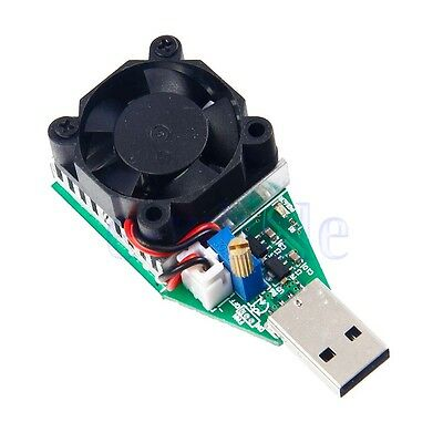 Adjustable USB Load Discharger Resistor Mobile Power Aging module 1A 2A 3A K6