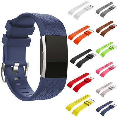 Luxury! Sport Silicone Wristwatch Strap Replacement Bands For Fitbit Charge 2