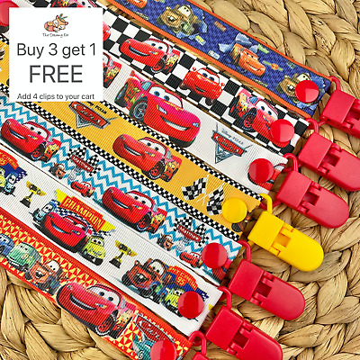 Dummy clip pacifier chain dummie binky baby gift lighting mcqueen cars soother