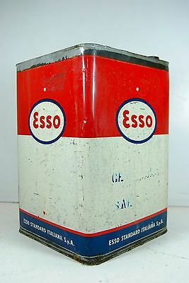 esso Standard Italiana Oil Latta Olio Italian Advertising Industrial Chic H.35