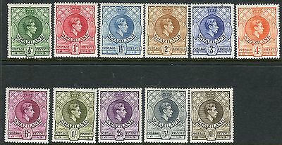 SWAZILAND-1938-54  An unmounted mint set to 10/- Sg 28-38a