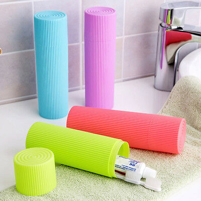 Travel Hiking Camping Toothbrush Toothpaste Holder Case Plastic Protect Box
