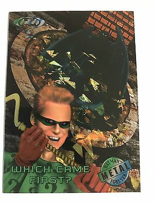 1995 DC Comics Batman Forever Metal Trading Card #44 Which Came First?
