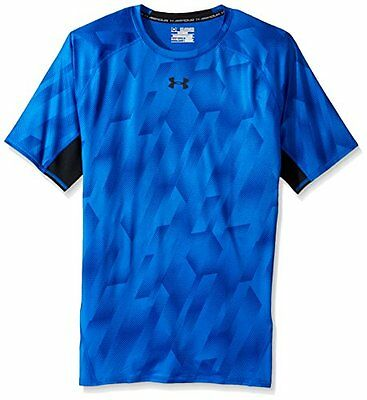 Blu (TG. Small) Under Armour Ua Hg Printed Ss, Maglietta Uomo, Blu, S