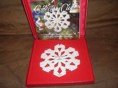 "Longaberger 2000 Collector's Club Snow Days ""Kaitlin"" Ornaments -  NIB"