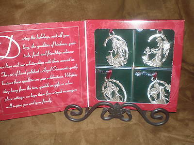 Longaberger 1999 Pewter Angel Ornaments -  NIB