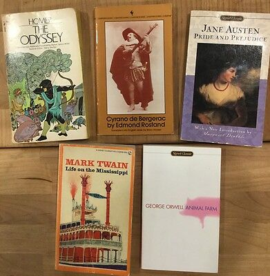 LOT 5 Classic Books High School Homeschool Literature Reading Paperback