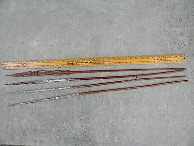 Ceremonial New Guinea Papua Arrows Points Tribal Spear