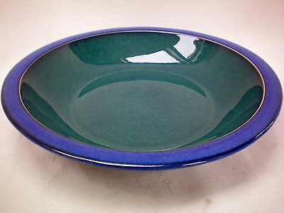 "Denby Metz Rimmed Bowl 8.25"" dia Green Blue Excellent Condition (A)"