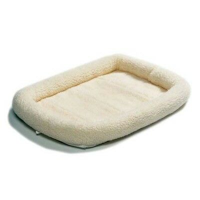 """Midwest Quiet Time Fleece Dog Pet Crate Carrier Bolstered Pad Bed 22"""""""
